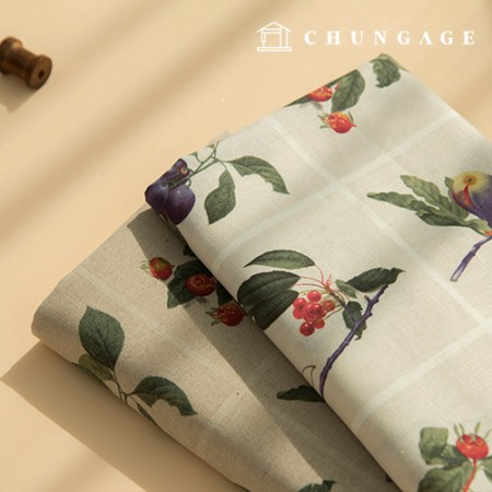 Linen Fabric Wide Linen Fabric Square Fruit 2 types