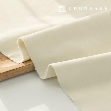 Cotton span Velvet plain fabric Ivory