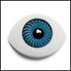 8mm Flat Simple Acrylic Eyes - Blue (세일)