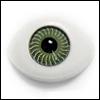 8mm Flat Simple Acrylic Eyes - Green (세일)