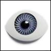 8mm Flat Simple Acrylic Eyes - Gray (세일)