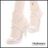 Fashion doll Size - Basic String Sandal (White)