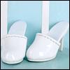 Fashion doll Size - Simple Mule (White)