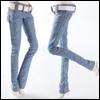 Fashion Doll Size : Basic Skinny Pants (Blue)