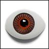 8mm Flat Simple Acrylic Eyes - Brown (세일)