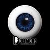 26mm Half-Round Acrylic Eyes (Cobalt)