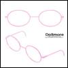 블라이스 Size - Round Steel Lensless Frames (Pink)