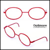 블라이스 Size - Round Steel Lensless Frames (Red)