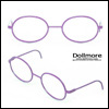 블라이스 Size - Round Steel Lensless Frames (Violet)