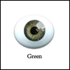 6mm Oval Flat Real Glass Eyes (Green)