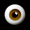 26mm -PP Solid Half Round Low Dome Glass Eyes (Goldenrod 11)