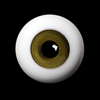 26mm -PP Solid Half Round Low Dome Glass Eyes (Smoke Olive 20)