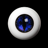 26mm - OMeta Half Round Acrylic Eyes(D.Blue 01)