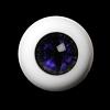 26mm - OMeta Half Round Acrylic Eyes (Violet 03)