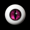 26mm - OMeta Half Round Acrylic Eyes(D.pink 07)