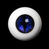 14mm - OMeta Half Round Acrylic Eyes (Blue 01)