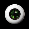 14mm - OMeta Half Round Acrylic Eyes (Green 02)