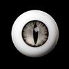 14mm - OMeta Half Round Acrylic Eyes (Gray 05)
