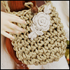 Free - Thedaisy Rose Knit Bag (Beige)