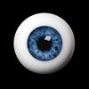 20mm Half-Round Acrylic Eyes (Blue)