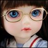 Mokashura Size - Round Steel Lensless Frames Glasses (Gold)