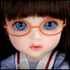 Mokashura Size - Round Steel Lensless Frames Glasses (Orange)