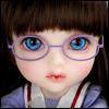 Mokashura Size - Round Steel Lensless Frames Glasses (Violet)