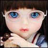 Mokashura Size - Round Steel Lensless Frames Glasses (White)