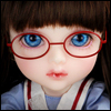 Mokashura Size - Round Steel Lensless Frames Glasses (Red)