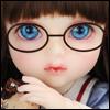 Mokashura Size - Round Steel Lensless Frames Glasses (Coffee)