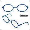 블라이스 Size - Round Steel Lensless Frames (Blue)