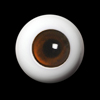 14mm Solid Glass Doll Eyes - PW10(B)