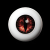 14mm - OMeta Half Round Acrylic Eyes (Red 04)