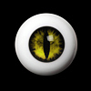 14mm - OMeta Half Round Acrylic Eyes (Yellow 09)