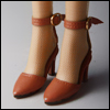 Fashion doll Size - Delightful Heels shoes (Brown)[C3]