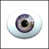 10mm Oval Real Type PaperWeight Glass Eyes - Lt Violet