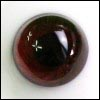 16mm Paperweight Glass HH Eyes(Brown)