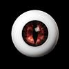 26mm - OMeta Half Round Acrylic Eyes (Red 04)