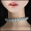 Trinity Doll Size - Simple Pearl Necklace (Big Ball Gray)