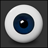 20mm Solid Half Round  Glass  Low Dome Eyes (12B Cobalt) - Pa