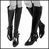 Model Doll Shoes - Long Cut Boots (Black)