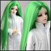 (7-8) Long Laea Parting Straight Wig (Green)