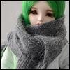 Model & MSD - Angora Muffler (Gray)