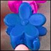 Mini Flower Pin (M Blue)