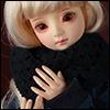 Model & MSD - Drizzly Knit Muffler (Black)