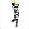 모델돌사이즈 - Long Stockings(Striped Black)