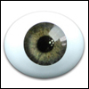 10mm Paperweight glass eyes Oval Real type - Green