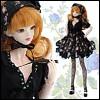 """12"""" Size - Romantic Rose Dress Set (Black)"""