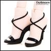Fashion doll Size - Basic String Sandal (Black)