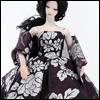 Fashion Doll Size : Violet Ebony Dress Set